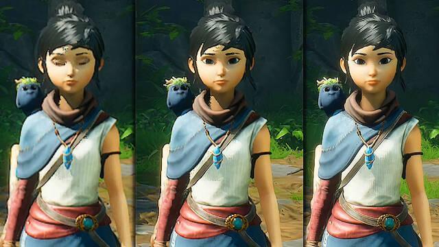 Gráficos de Kena: Bridge of Spirits comparado en PS5, PS4 y PS4 Pro.