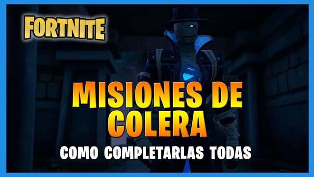 Fortnite T8: TODAS las misiones de Cólera y cómo completarlas