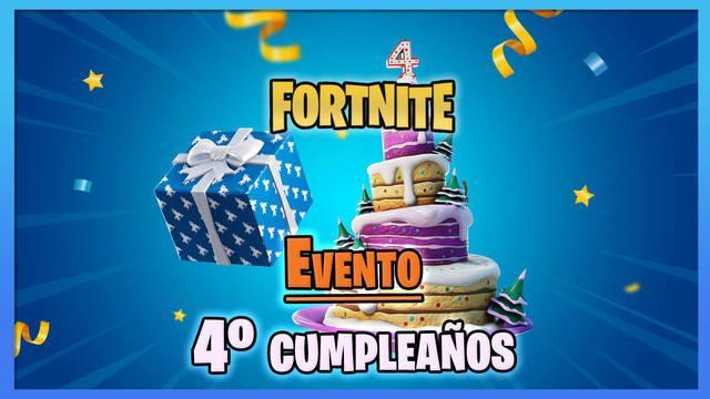 Fortnite - Evento 4º cumpleaños