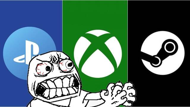 Las caídas de Xbox Live, PSN y Steam