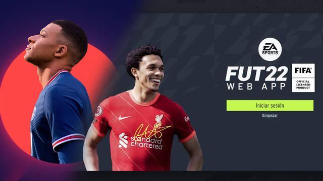 Web App de FIFA 22 FUT