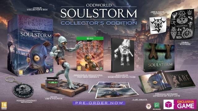 GAME abre las reservas de la edición coleccionista de Oddworld: Soulstorm para Xbox.
