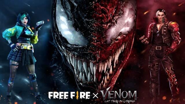Venom: Habrá Matanza tendrá un evento especial el próximo 10 de octubre en Free Fire