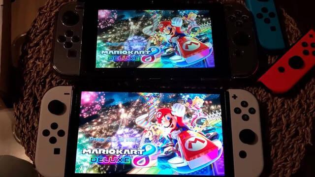 Realizan una comparativa entre Nintendo Switch OLED y el modelo original