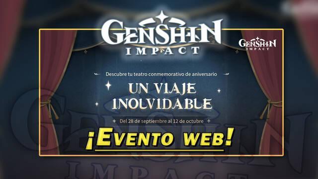 Genshin Impact: Gana Protogemas en el evento web de aniversario Un viaje inolvidable