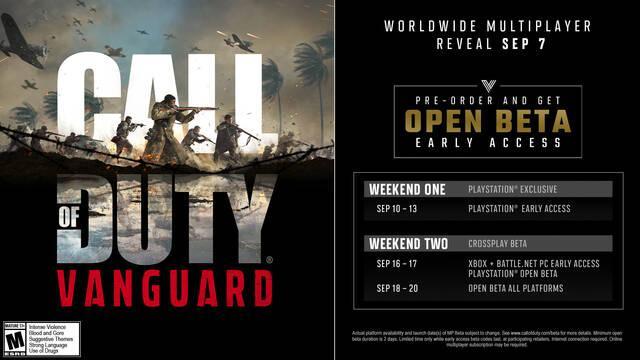 Call of Duty Vanguard beta abierta fecha