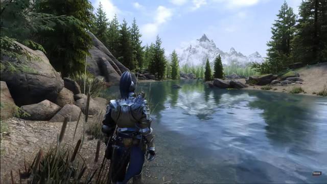 The Elder Scrolls V: Skyrim con 1200 mods y ray-tracing