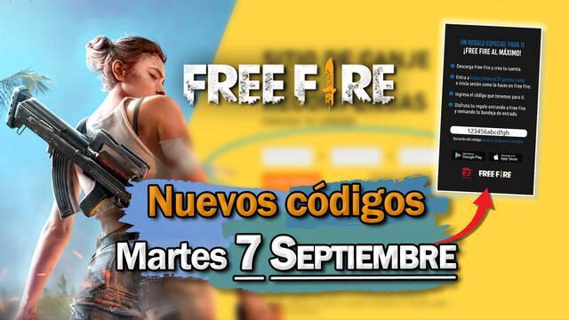 Free Fire: Códigos martes 7 de septiembre de 2021
