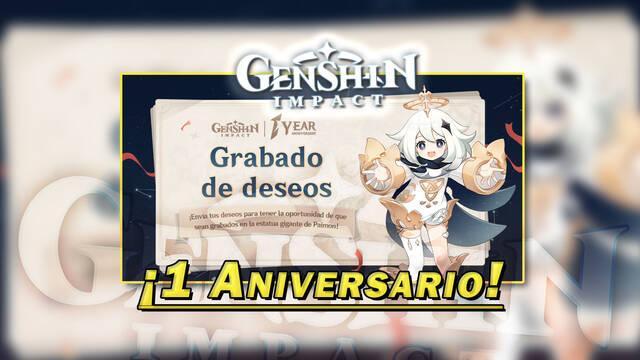 Genshin Impact - Evento web primer aniversario
