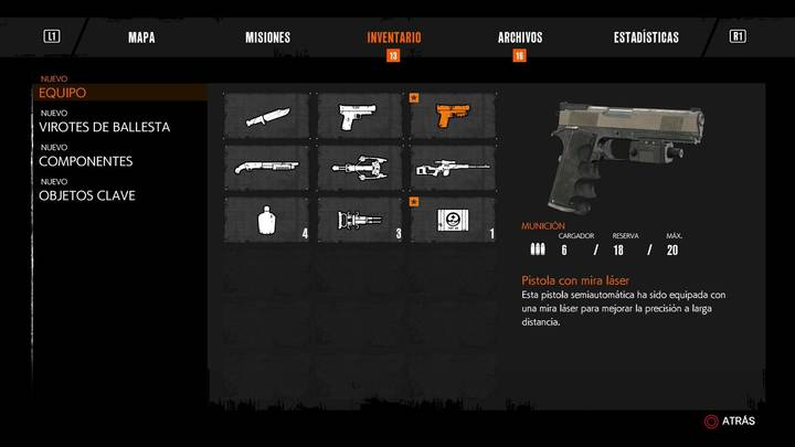 Pistola con mira láser The Evil Within 2