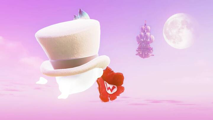 Cappy recuperando la gorra de Mario