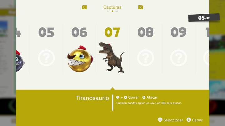 Tiranosaurio - Super Mario Odyssey