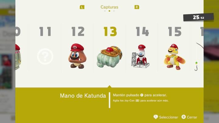 Mano de Katunda - Super Mario Odyssey