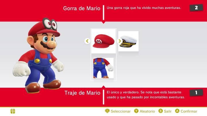 Traje de Mario Super Mario Odyssey