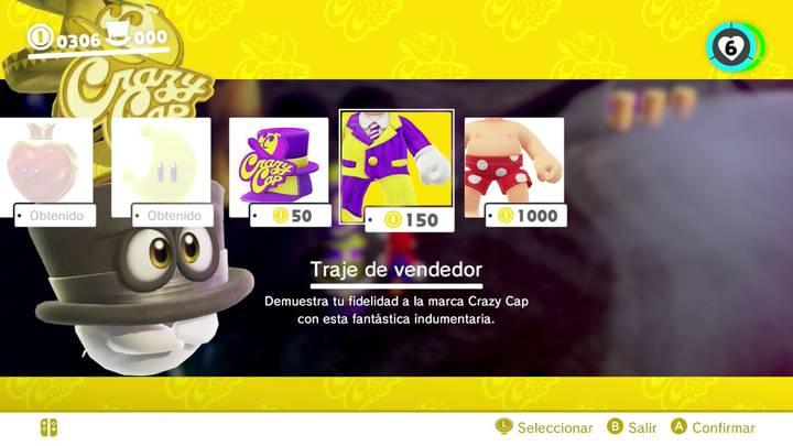 Traje de vendedor Super Mario Odyssey