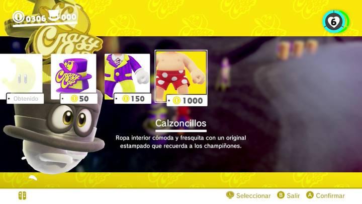 Calzoncillos Super Mario Odyssey