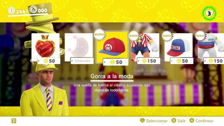 Gorra a la moda Super Mario Odyssey