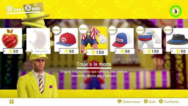 Traje a la moda Super Mario Odyssey