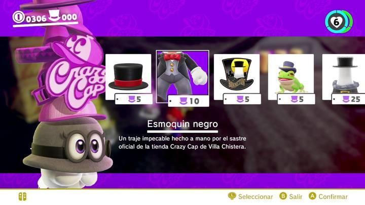 Esmoquin negro Super Mario Odyssey