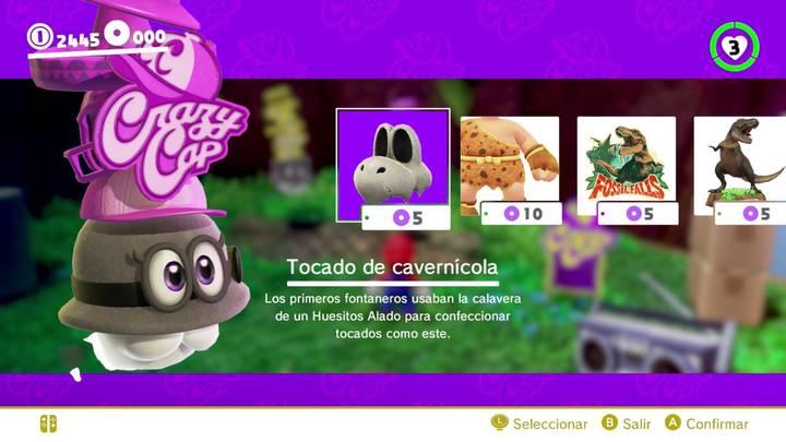 Tocado de cavernícola Super Mario Odyssey