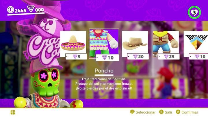 Poncho Super Mario Odyssey
