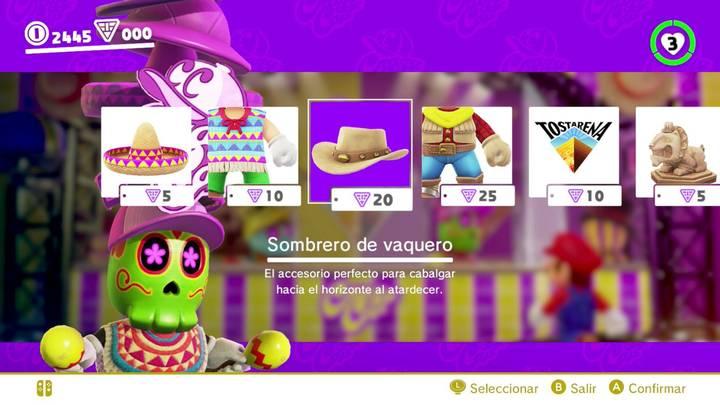 Sombrero de vaquero Super Mario Odyssey