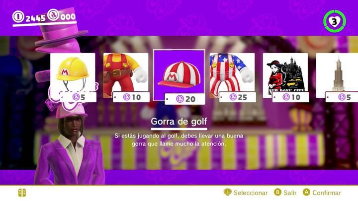 Gorra de golf Mario Odyssey
