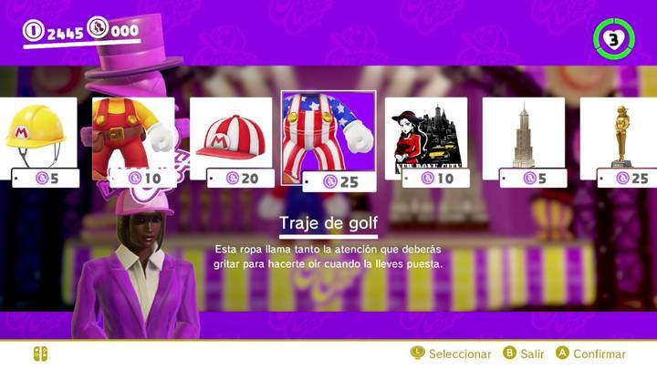 Traje de golf Mario Odyssey