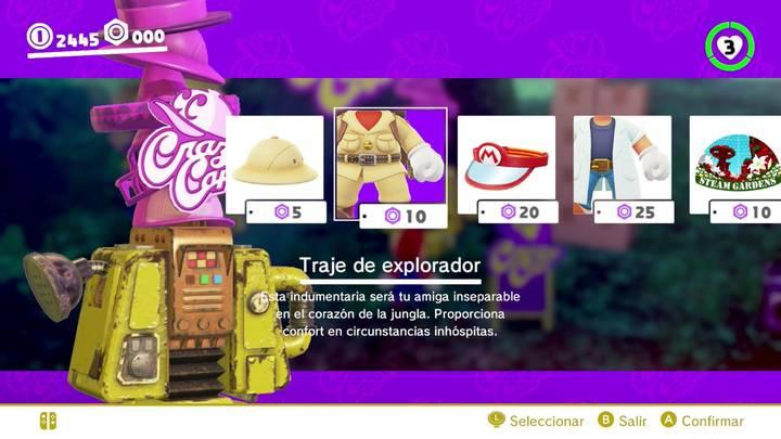 Traje de explorador Mario Odyssey