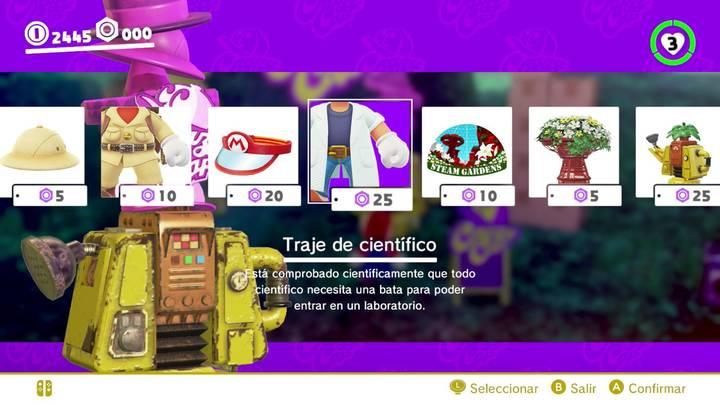Traje de científico Mario Odyssey