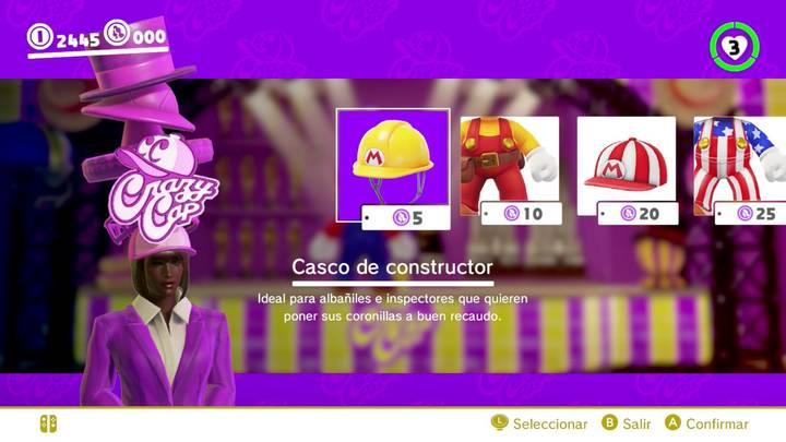 Casco de constructor Mario Odyssey