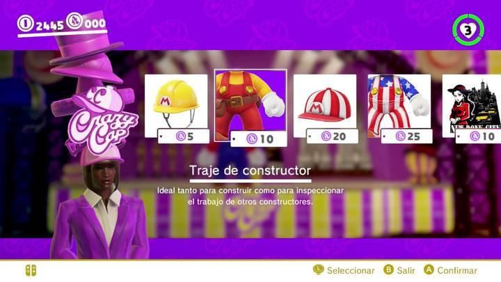 Traje de constructor Mario Odyssey
