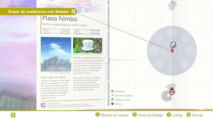 Extraño material flotante Reino Cúmulo Super Mario Odyssey