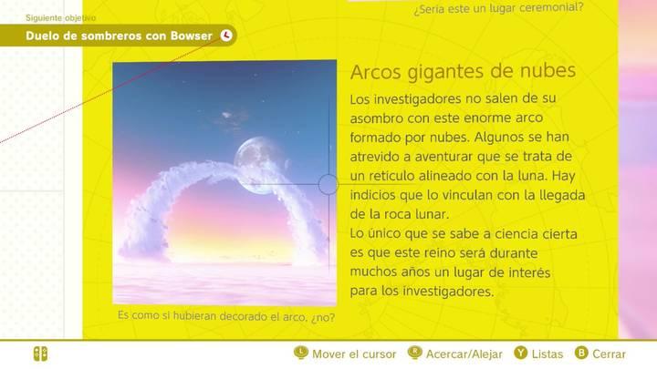 Arcos gigantes de nubes Reino Cúmulo Super Mario Odyssey