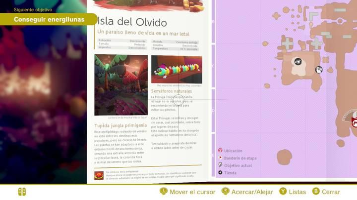 Isla del olvido Reino Perdido Super Mario Odyssey