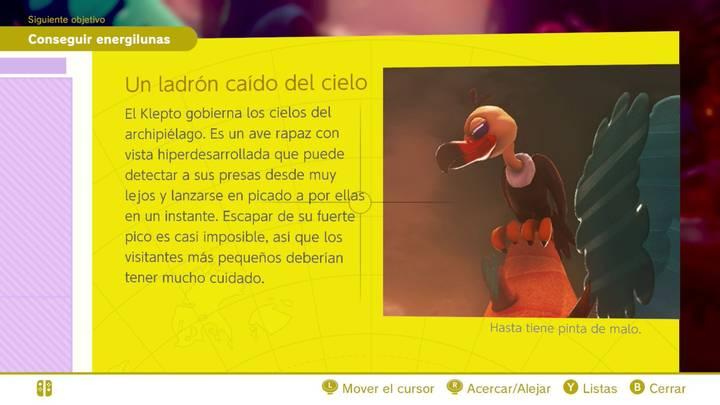 Un ladrón caído del cielo Reino Perdido Super Mario Odyssey