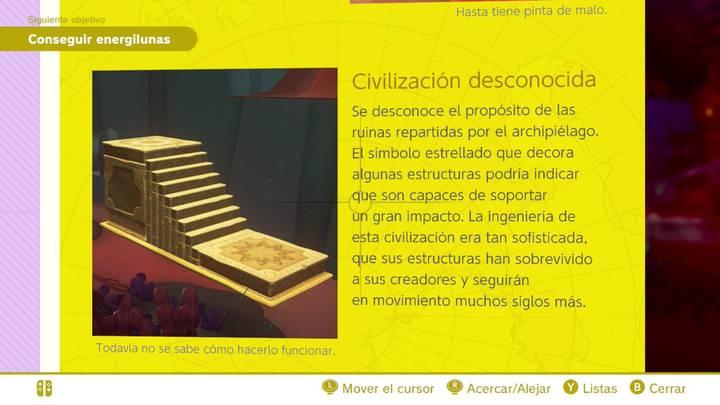 Civilización desconocida Reino Perdido Super Mario Odyssey