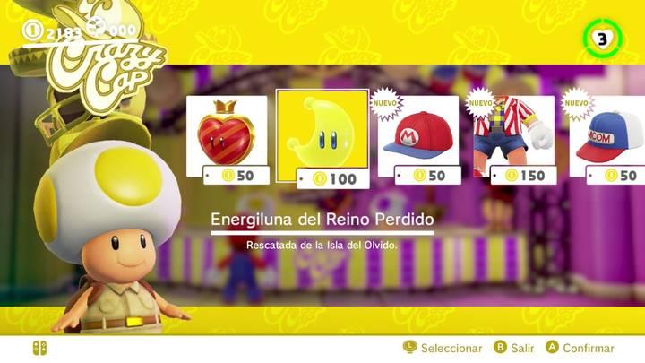 Energiluna 21 Reino Perdido Super Mario Odyssey