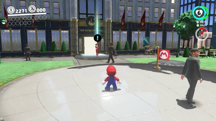 Hablar con Pauline Reino Urbano Super Mario Odyssey