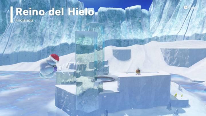 Una tierra congelada Reino del Hielo Super Mario Odyssey