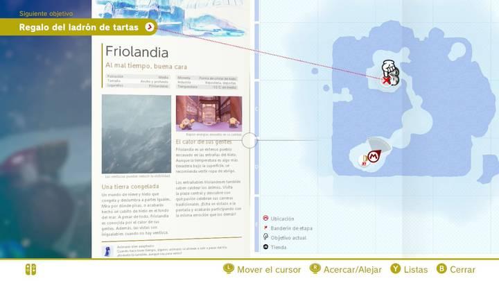 Friolandia Reino del Hielo Super Mario Odyssey