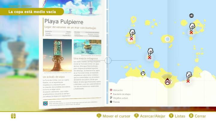 Playa pulpierre Reino Ribereño Super Mario Odyssey