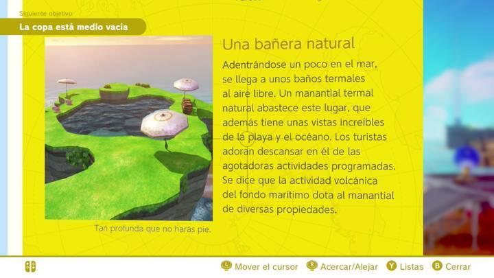 Una bañera natural Reino Ribereño Super Mario Odyssey