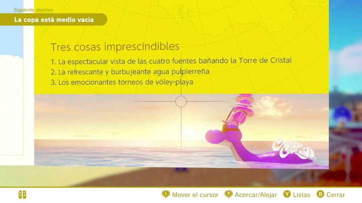 Tres cosas imprescindibles Reino Ribereño Super Mario Odyssey