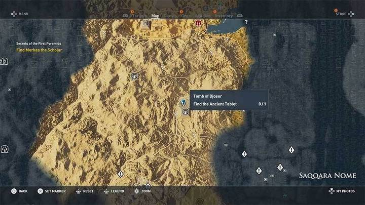 Tumba de Djoser en Saqqara de Assassin's Creed Origins