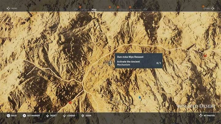 Tumba Oun Maa Niye Ressoot en Desierto Remoto de Assassin's Creed Origins