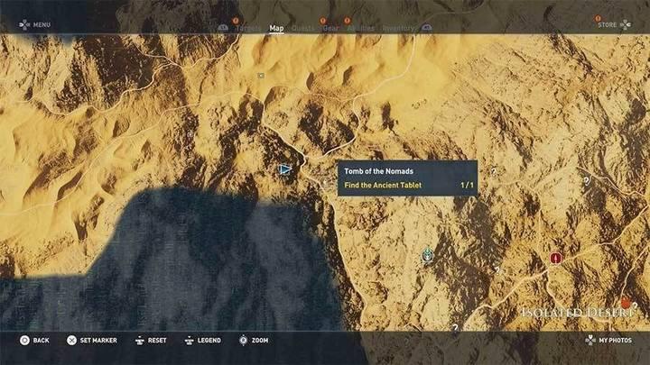 Tumba de los Nómadas en Desierto Remoto de Assassin's Creed Origins