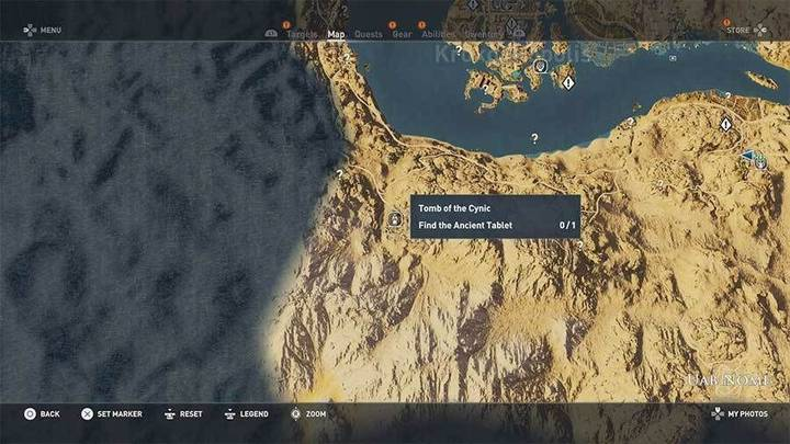 Tumba del Cínico en Uab de Assassin's Creed Origins