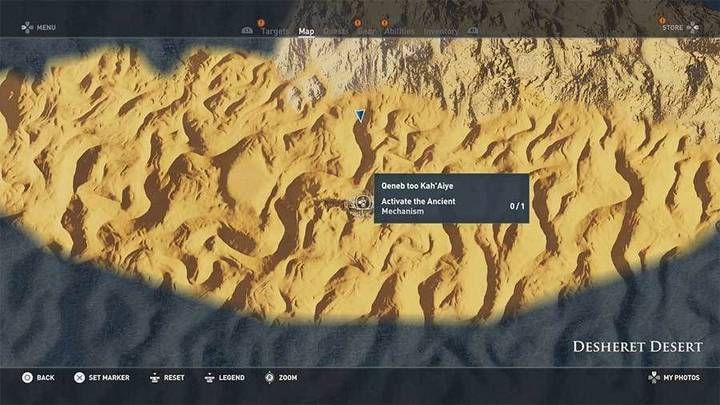 Tumba de Qeneb Too Kah'Aiye en desierto Desheret de Assassin's Creed Origins