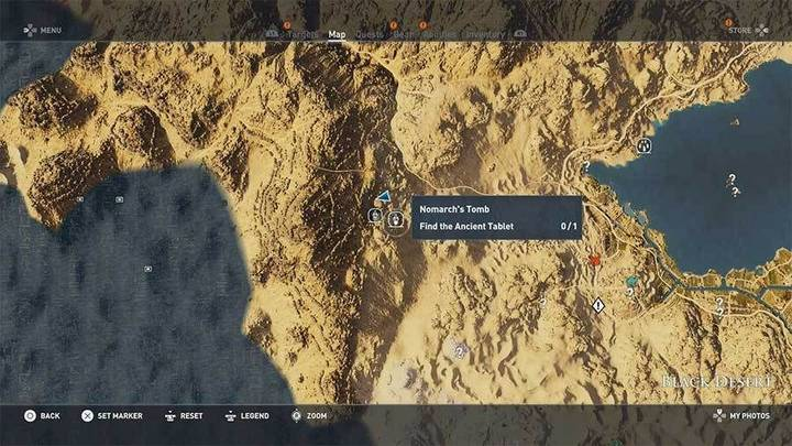 Tumba del Nomarca en desierto Negro de Assassin's Creed Origins